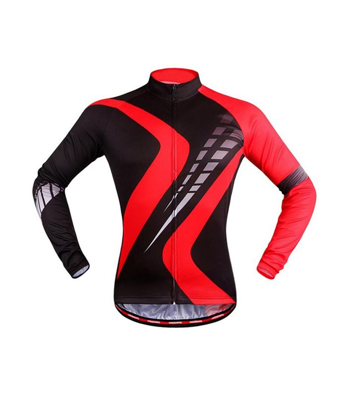 Black Red Poly Spandex Custom Cycling Shirt Manufacturer
