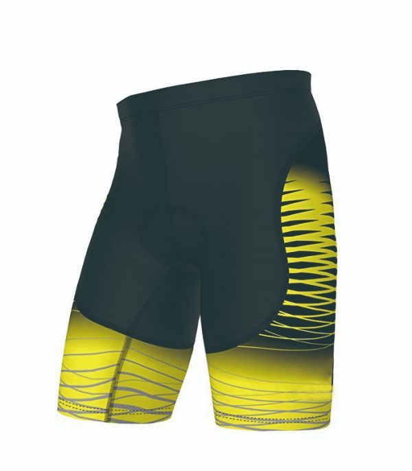 Black Yellow Custom Cycling Short Manufacturer