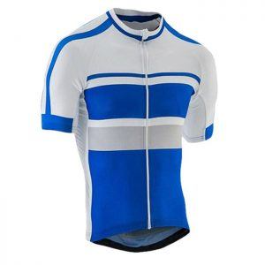 Blue White Custom Cycling Shirt Manufacturer