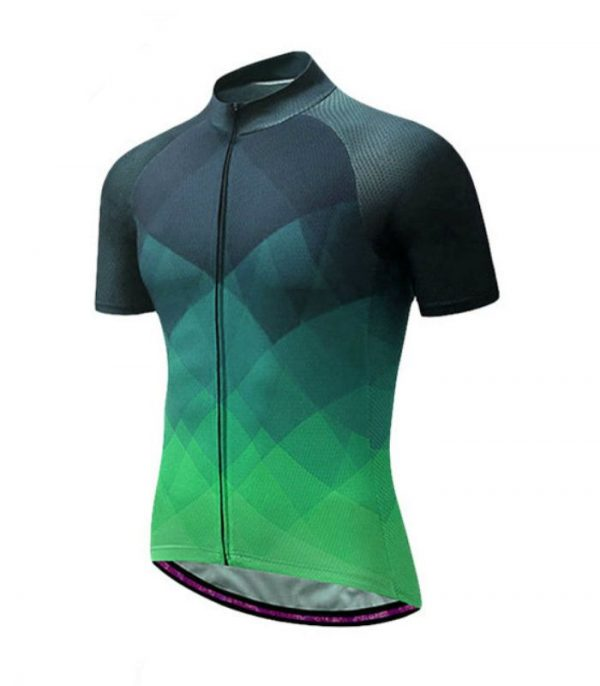 Wholesale Custom Green Mens Cycling Shirt