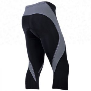 Wholesale Grey Black Custom 3/4 Cycling Short