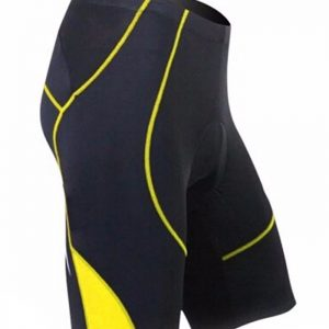 Mens Black Yellow Custom Cycling Short Manufacturer