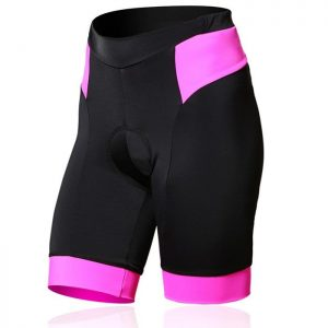 Pink Black Custom Womens Cycling Short Manufacturer