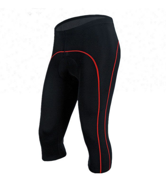 Red Border Black 3/4 Bicycle Tight Manufacturer