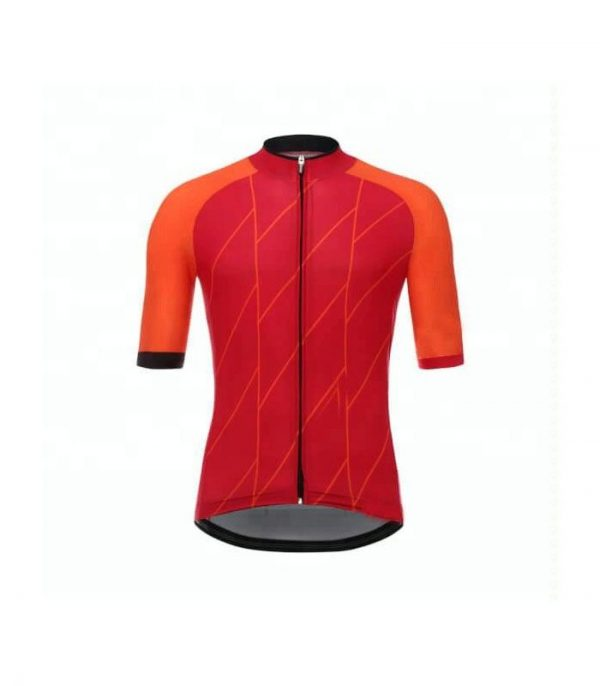 Wholesale Red Orange Sublimated Cycling Uniform